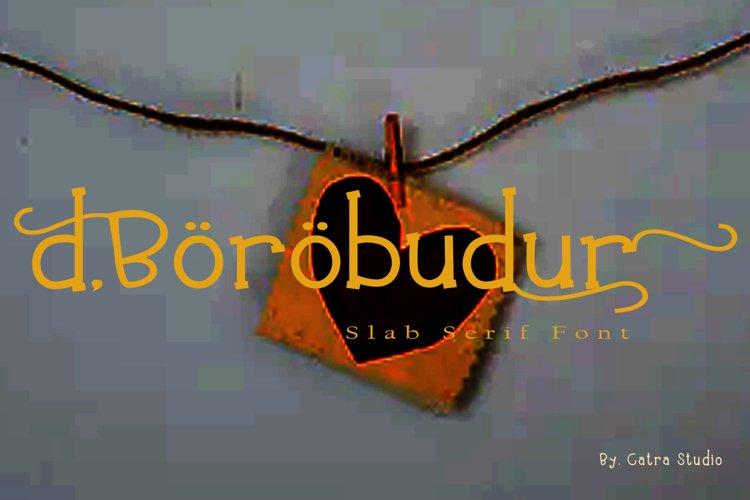 d'Borobudur Slab Serif Font example image 1