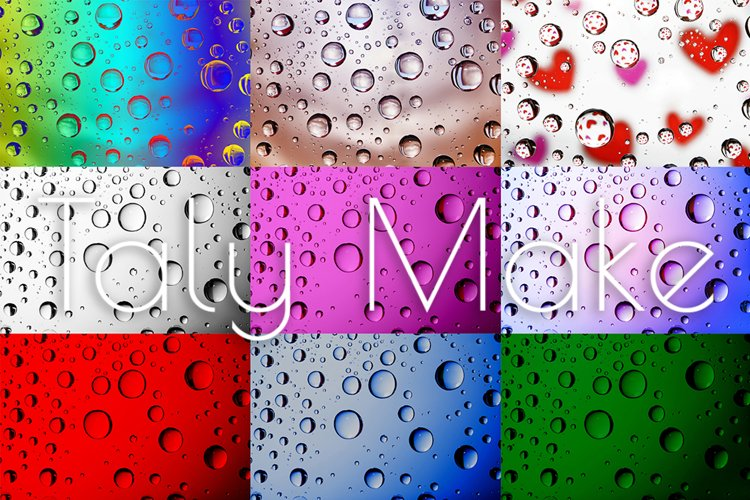 Dripped water on glass. example image 1