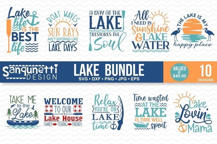 Lake and Summer SVG Bundle - 10 designs