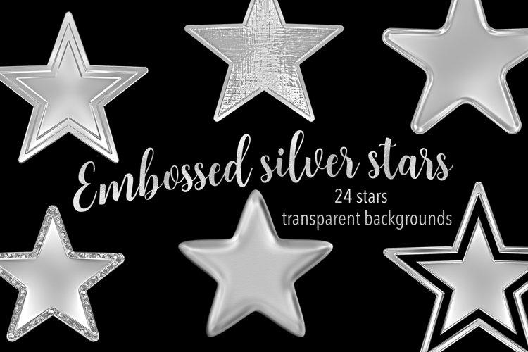 Embossed Silver Stars