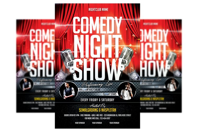 Comedy Show - Flyer Template example image 1