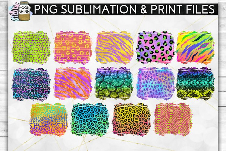 Colorful Animal Print Bundle 42 Sublimation Background PNG example 1