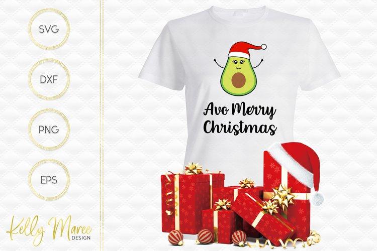 Christmas Avocado SVG File | Avo Merry Christmas