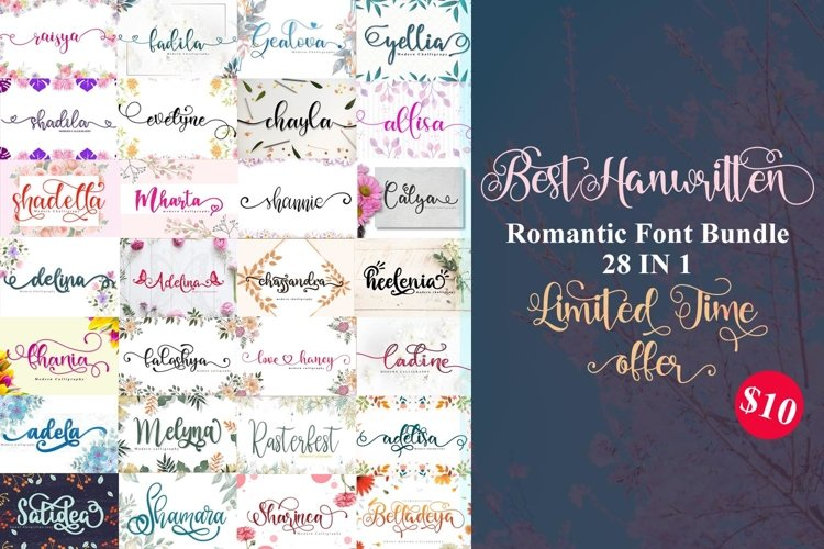best collection sweet handwritten font example image 1