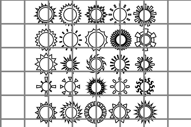 Sun or summer SVG set for cut. Recreation or holiday symbol. example image 1