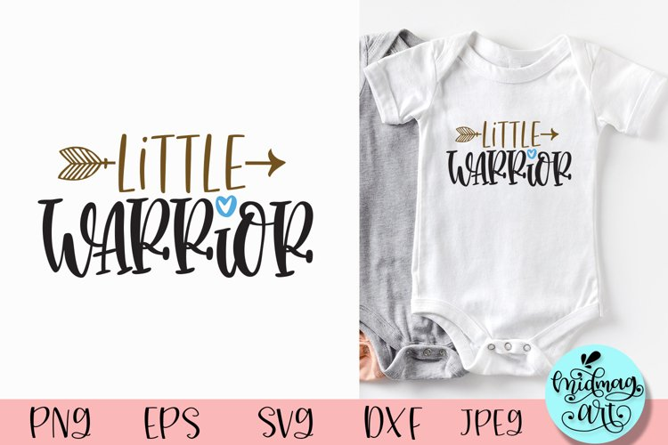 Little warrior svg, baby svg example image 1