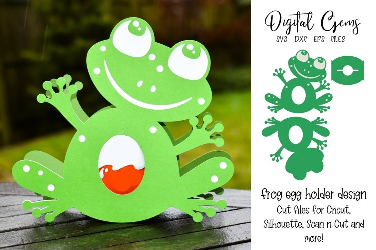 Frog egg holder design SVG / DXF / EPS files. example image 1