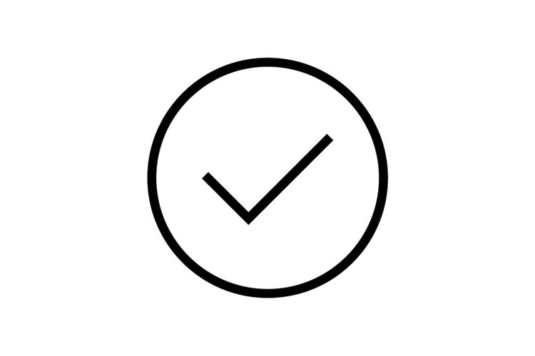 Check mark symbol icon vector illustration example image 1