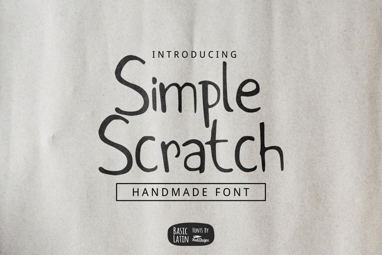 Simple Scratch Font example image 1