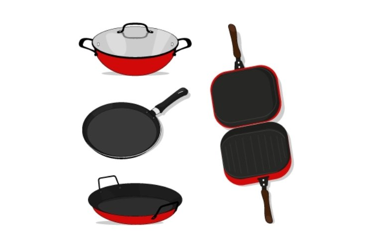 design illustrations of various shapes of cooking utensils example image 1