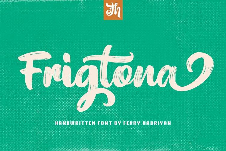 Frigtona - Handwritten Font example image 1