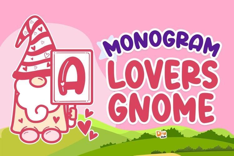 Monogram Lovers Gnome example image 1