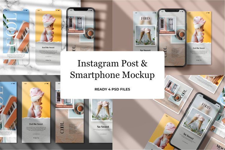 Instagram Post & Smartphone Mockup v1