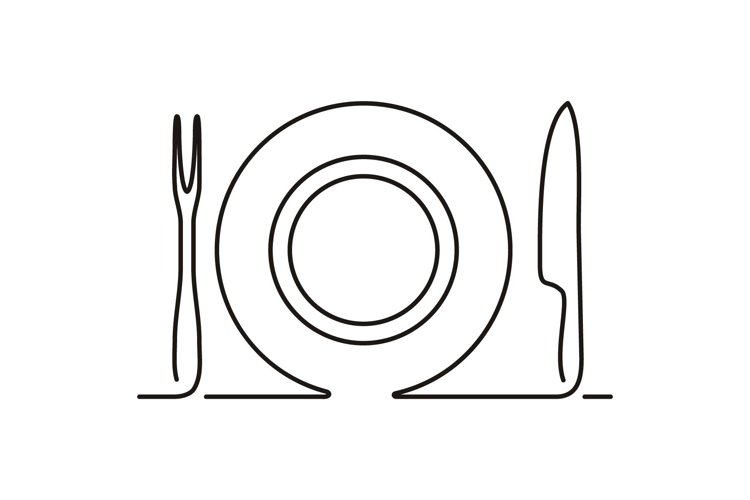 fork spoon and plate