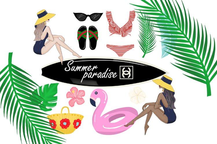 Summer paradise clipart