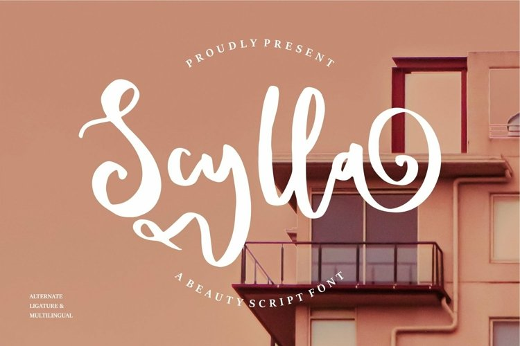 Web Font Scylla - A Beauty Script Font example image 1
