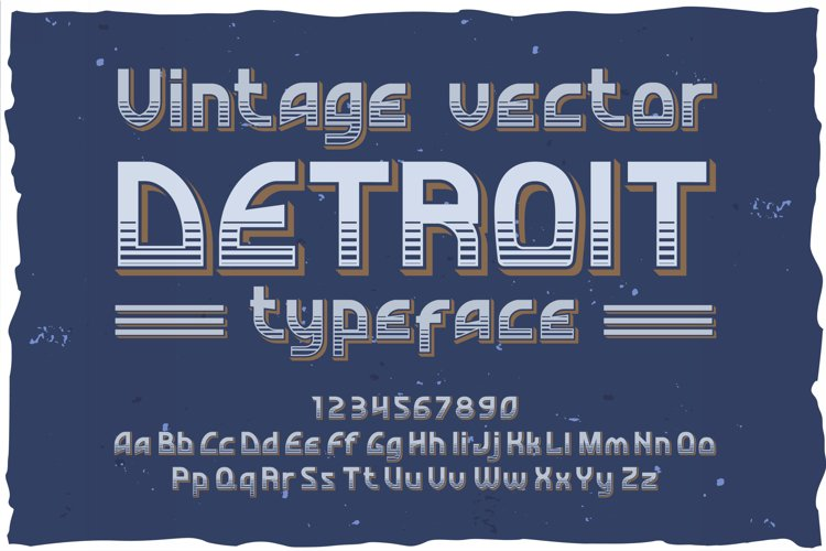 Detroit. OTF and Vector vintage font. example image 1