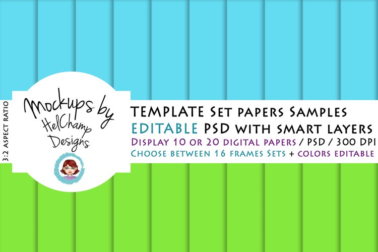 10 or 20 Panels Mockup for Digital Papers - TH07