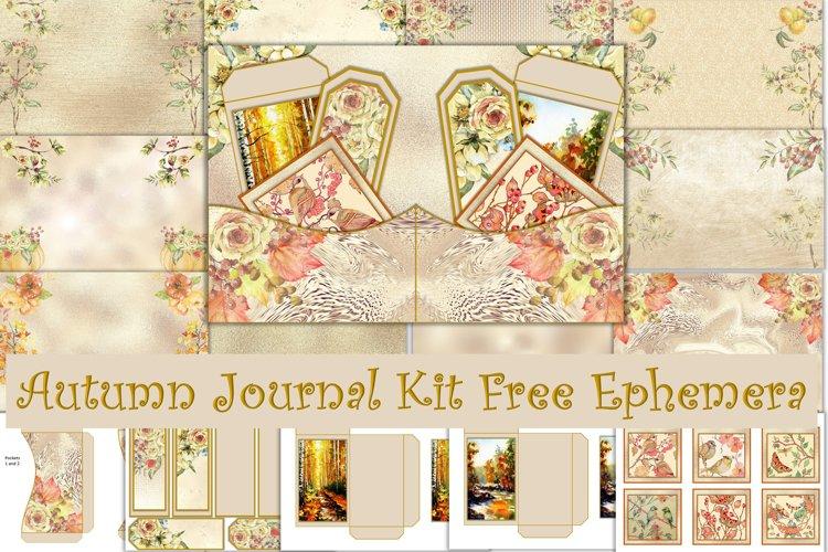 Autumn Fall Journal Kit Free Ephemera JPEG and PNG example image 1
