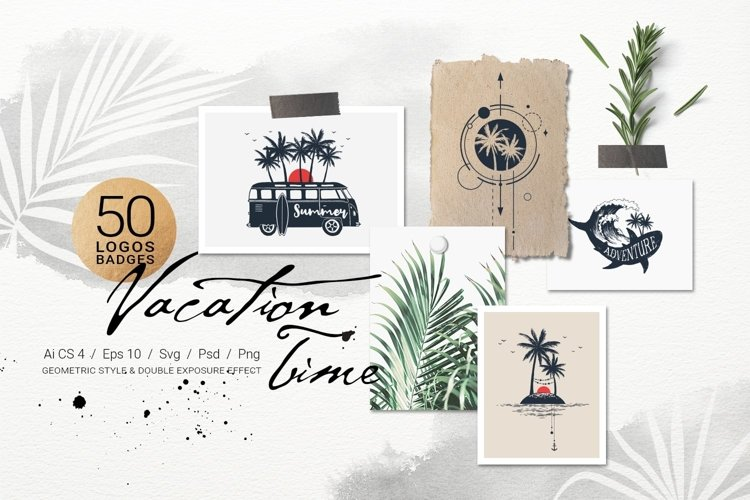 50 Logos   Badges. Vacation Time