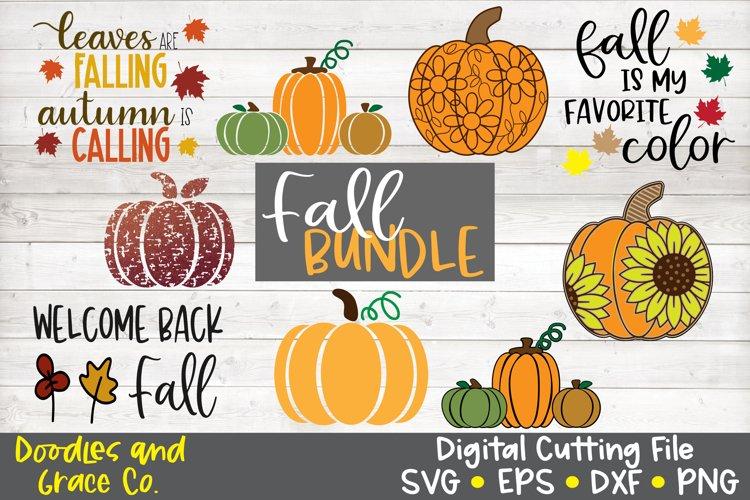 Fall SVG Bundle - Pumpkin SVG Bundle - SVG - PNG - EPS - DXF example image 1
