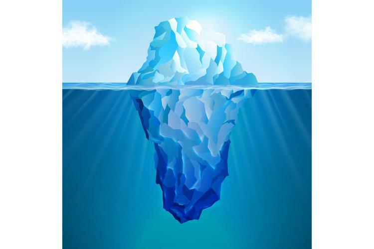 Iceberg realistic concept example image 1