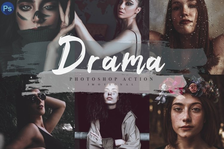 14 Drama Photoshop Actions, ACR and LUT Presets example image 1