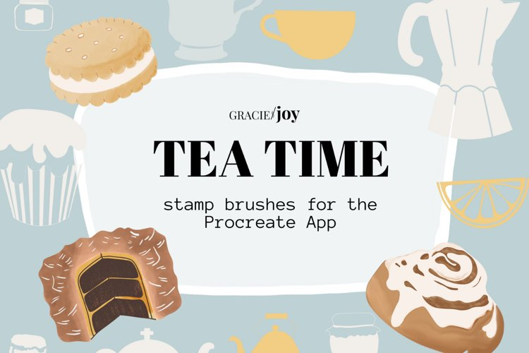 Tea Time Stamp Brushes for Procreate