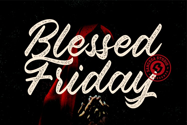 Blessed Friday Script Typeface example image 1