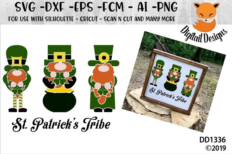 St Patrick's Day Gnomes Tribe SVG example image 1