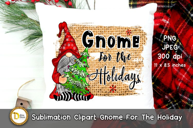 Sublimation Christmas Clipart -Gnome For The Holidays example image 1