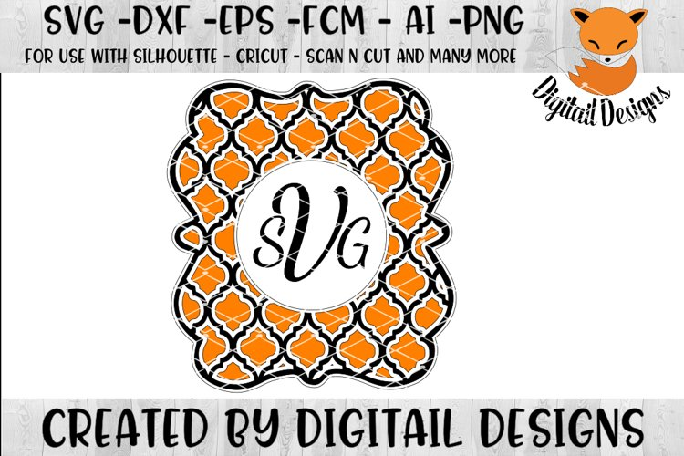 Clover Monogram Frame SVG