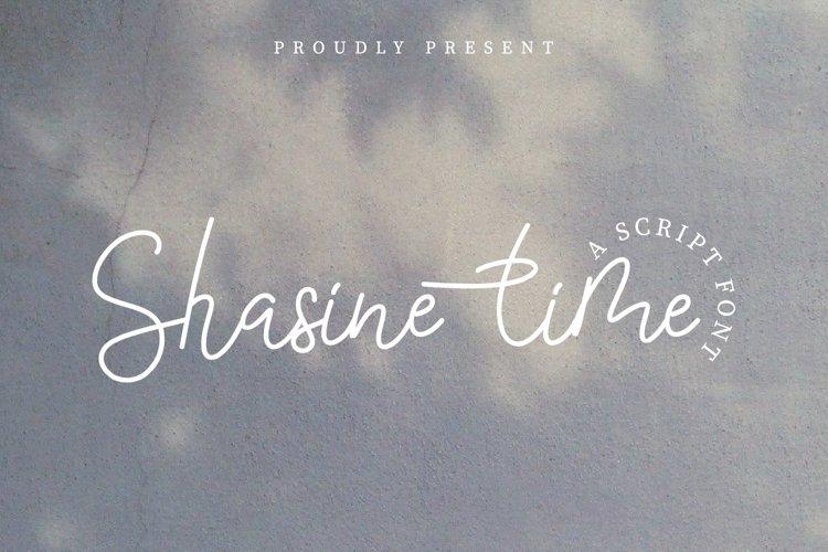 Shasine time example image 1