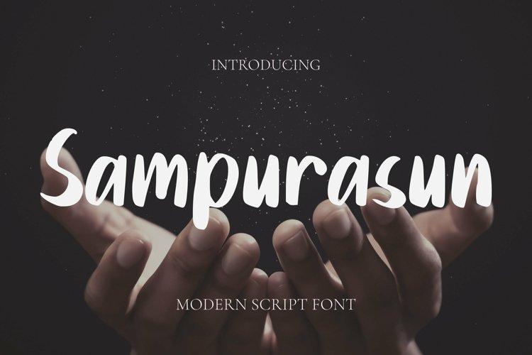 Web Font Sampurasun Font example image 1