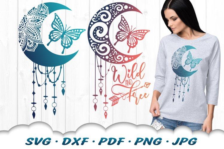Mandala Butterfly Dreamcatcher SVG DXF Cut Files Bundle