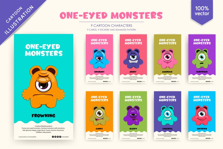 9 Funny One-eyed monsters example image 1