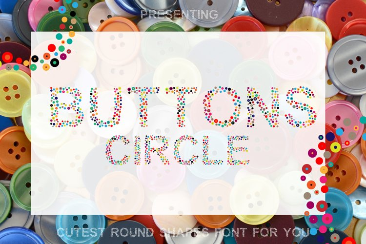 Button Circle - A Simple Round Font example image 1