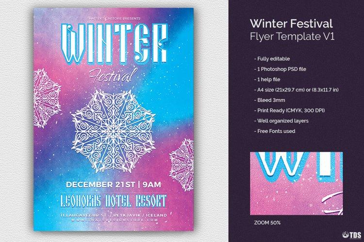 Winter Festival Flyer Template V1
