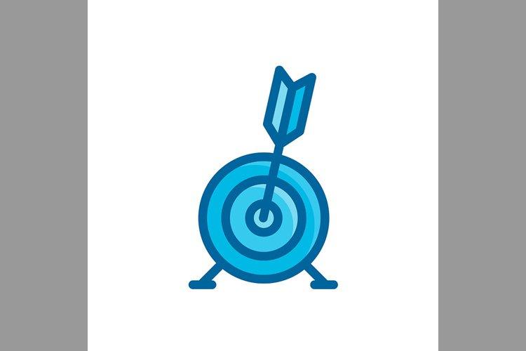 arrow board, business target symbol blue color, Vector Illus example image 1