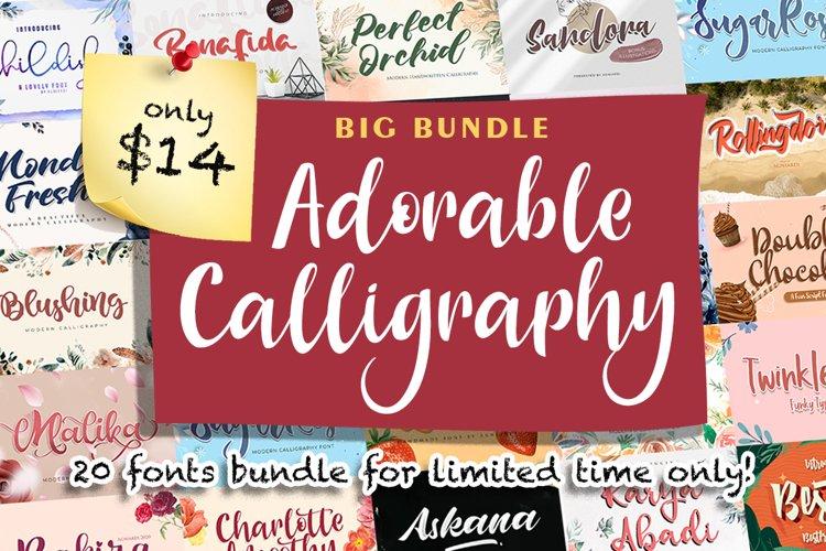 Adorable Calligraphy Bundle example image 1