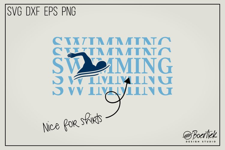 Swimming SVG cut file example image 1