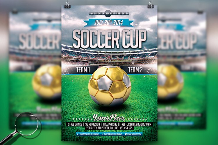 Soccer Cup | Modern Flyer Template example image 1