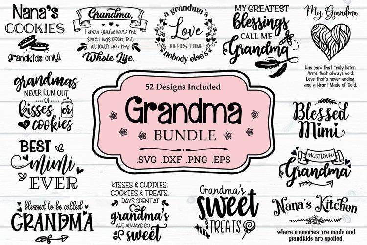 Grandma SVG Bundle, Grandmother Quotes And Sayings example image 1