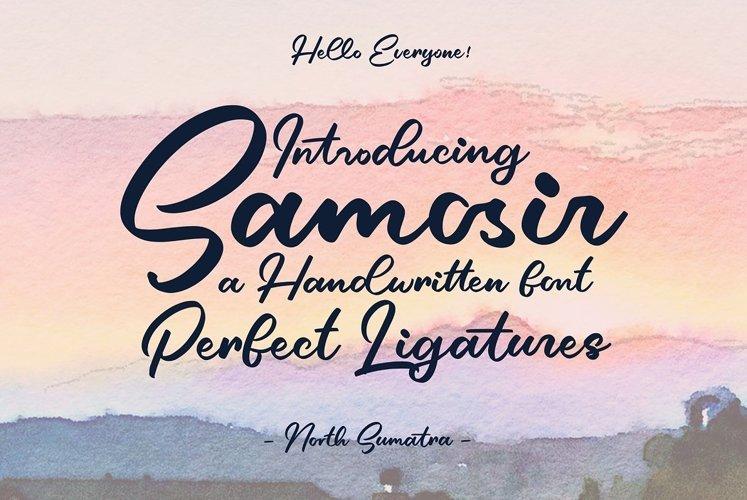 Samosir | Handwritten Font example image 1