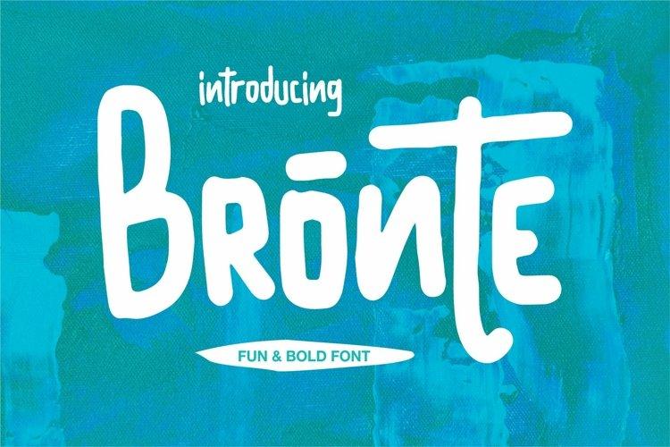 Web Font Bronte - Fun & Bold Font example image 1