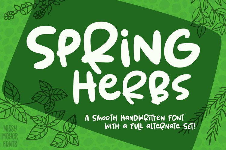 Spring Herbs - a bouncy, blobby, whimsical font! example image 1