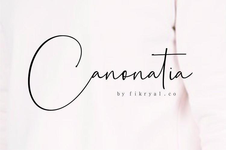 Canonatia // Handwritten Font example image 1