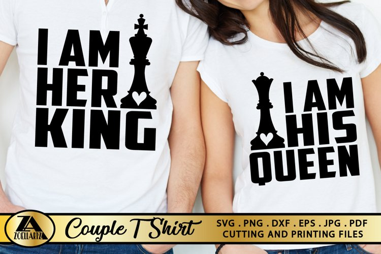 Queen SVG King SVG Valentines Day Tshirt SVG Love Quotes SVG example image 1