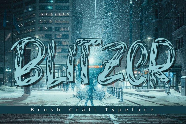 Blitzer   Modern Typeface Font example image 1