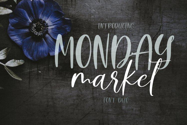 Monday Market Font Duo example image 1